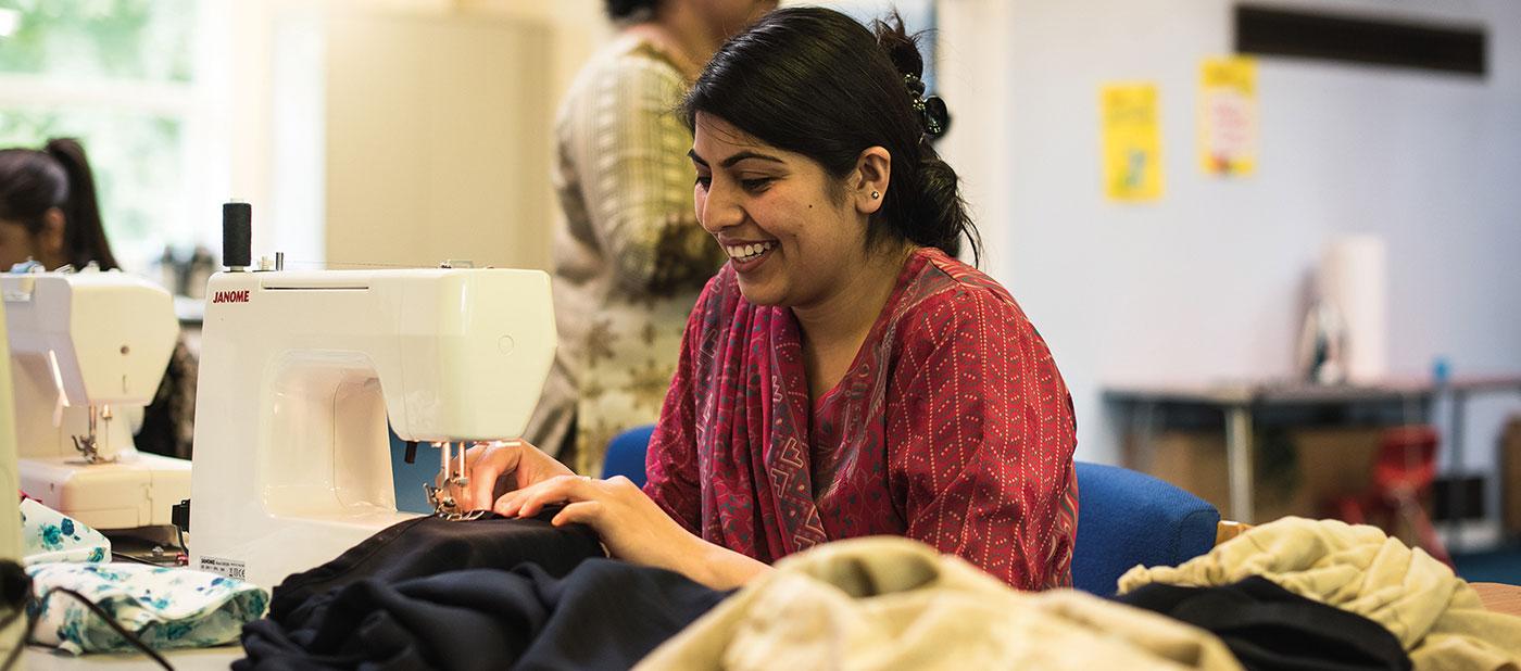 Sewing at Beeston Village