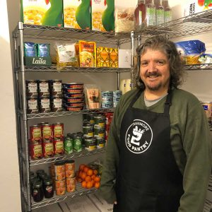 Martin in the food pantry